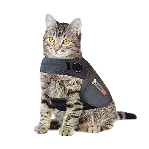 ThunderShirt Classic Cat Anxiety Jacket, Solid Gray, Small