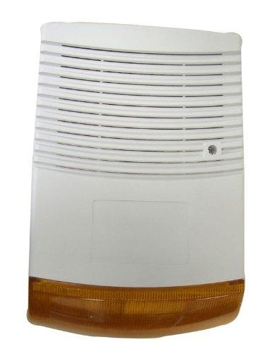 Überwachungsanlage Fake Überwachung Alarm Attrappe Dummy weiß Wand LED Licht Lampe aussen innen Outddor wasserfest Regen einbrecher YMPA UEK-ALD