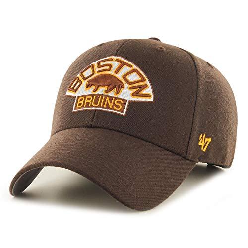 47 Brand Forty Seven Boston Bruins NHL Vintage Logo MVP Curved Visor Velcroback Cap