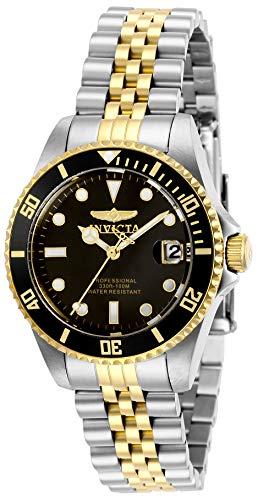 Invicta 29189 Pro Diver Reloj para Mujer acero inoxidable Cuarzo Esfera negro