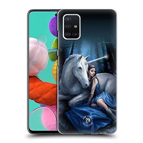 Head Case Designs Offizielle Anne Stokes Blauer Mond Einhörner Harte Rueckseiten Handyhülle Hülle Huelle kompatibel mit Samsung Galaxy A51 (2019)