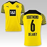 PUMA BVB Heimtrikot Kinder Saison 2021/22, Größe:152, Spielername:6 Delaney