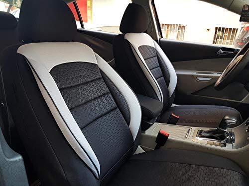 Sitzbezüge K-Maniac für Mercedes A-Klasse W168 | Universal schwarz-Weiss | Autositzbezüge Set Komplett | Autozubehör Innenraum | NO2625243 | Kfz Tuning | Sitzbezug | Sitzschoner