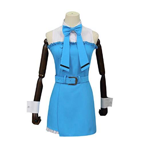 YYFS Game Anime Cosplay Traje, Uniforme de Cosplay Comic, Fiesta de Halloween, Vestido Azul,Clothing Suit -Medium