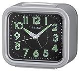 Seiko QHK023S Bell Alarm Clock with Snooze & Light-Silver, 13.2 x 13.2 x 7.3 cm
