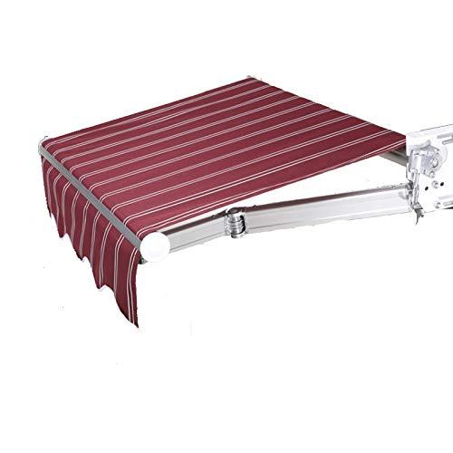 DNNAL Einziehbare Baldachin-Markise, Outdoor-Markise Aluminiumlegierung Sonnenschutzfenster Türschützer Markiseabdeckung Baldachin mit manuellen Kurbelgriff,200 * 150cm