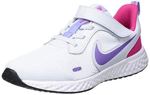 Nike Revolution 5 (PSV), Zapatillas para Correr Unisex niños, Football Grey Purple Pulse Fireberry White, 27.5 EU