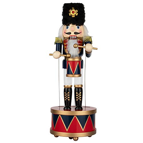 KI Store Nussknacker Weihnachten Spieluhr Holz Schlagzeuger Nussknacker Figur für Weihnachtsschmuck Nussknacker Sammlung Geschenk