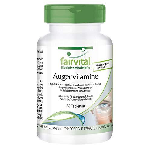 Augenvitamine - speziell für die Augen entwickelt - 60 Tabletten - Multivitamin