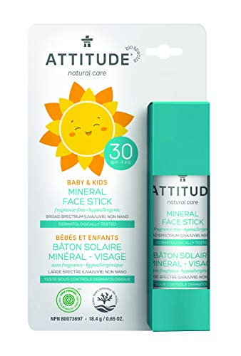ATTITUDE mineralischer Sonnenschutzstick LSF30 für Gesicht von Babys & Kinder (1 x 18,4 g)