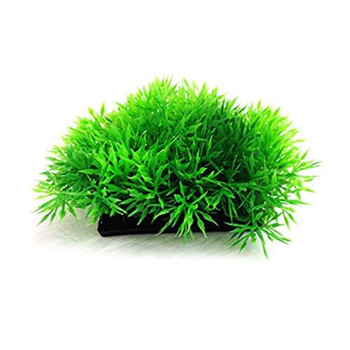 Mengonee Kunststoff simuliertes Wasser Gras Künstliche Pflanzen Aquarium Gefälschte Wasserpflanzen Aquarium Ornament Landschaft Dekor