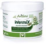 AniForte WermiX Pulver für Hühner, Gänse, Enten und Großvögel 50g - Naturprodukt vor, während und nach Wurmbefall und Wurmkur mit Saponine, Bitterstoffe, Gerbstoffe, Wermut, Naturkräuter harmonisieren Magen & Darm