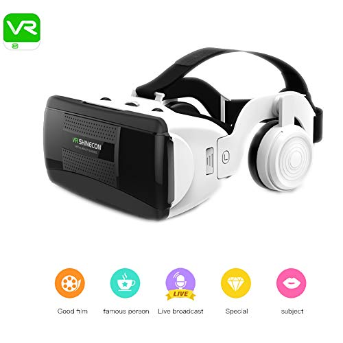 Lowest Price! QLPP VR Headset 100° FOV Eye Protected HD Virtual Reality Goggles with 3D Phase Sound...