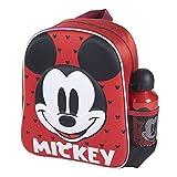CERDÁ LIFE'S LITTLE MOMENTS Botella de Agua Infantil de Mickey Mouse-Licencia Oficial Disney | Cantimplora Aluminio al Backend para Niños, Rosa, Mochila Recomendada 3-6 años, en Edad de Preescolar