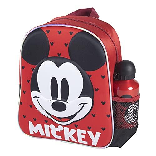 CERDÁ LIFE'S LITTLE MOMENTS Botella de Agua Infantil de Mickey Mouse-Licencia Oficial Disney | Cantimplora Aluminio al Backend para Niños, Rosa, Mochila Recomendada 3-6 años, en Edad de Preesc