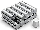 NeoMagNova 8x10 mm Neodym Magnete für Glasmagnettafel (Silber, 30)