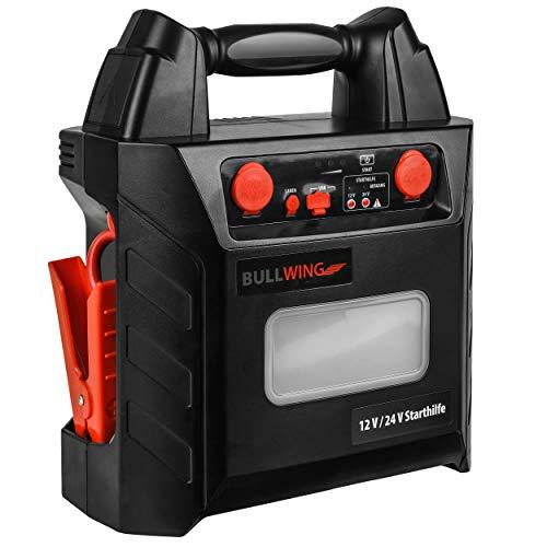 Bullwing Starthilfe Powerbank 24V LKW 900A Auto 12V 1800A