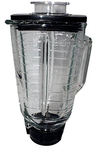 Tarro de vidrio cuadrado de 5 tazas con cuchilla, junta, base, tapa. Se adapta a oster blenders
