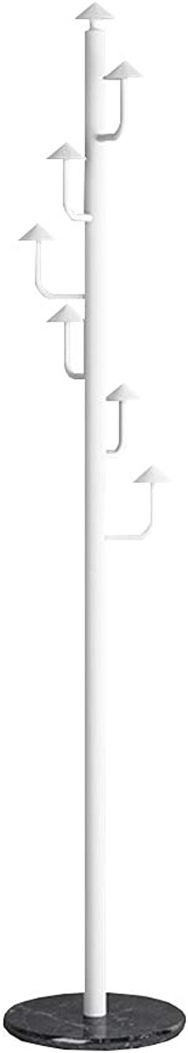 Chunlan Coat rack Metal Hanger Available in Two colors 30  185 cm (color   Glacier White)