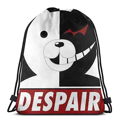 Mochila con cordón Danganronpa-Monokuma-Despair, ligera, deportiva, gimnasio, bolsa de cinch para senderismo, viajes, escuela