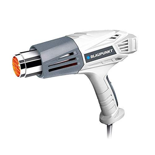 Blaupunkt Pistola de Aire Caliente 2000 W BP2000E, Calor Decapador Profesional, 4 Boquillas y Ajuste de Temperatura: 450℃ (300 L/min) y 600℃ (500 L/min) Ideal para Pelar Pintura, Soldar Tuberías, PVC