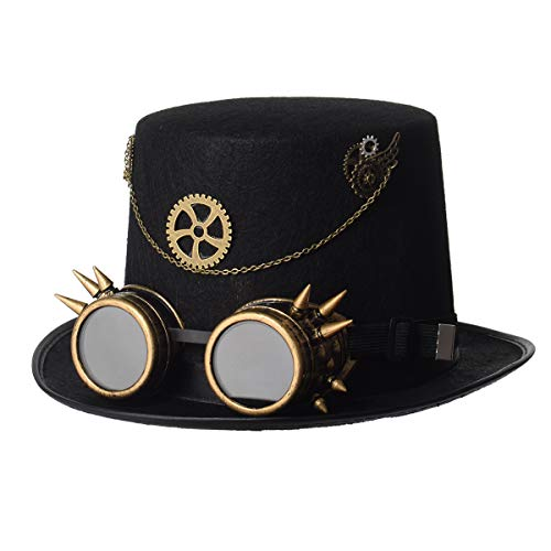 BLESSUME Unisexo Steampunk Parte Superior Sombrero Cosplay Punk Partid