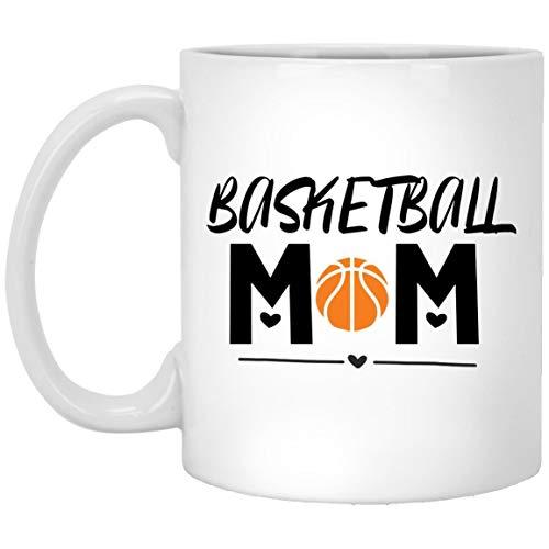 Divertida taza de café, taza de té, taza de café, mamá de baloncesto, regalo para mamá en el día de la madre o cumpleaños, taza divertida, regalo para mamá, mamá y amigos, taza de cerámica de 11 onzas
