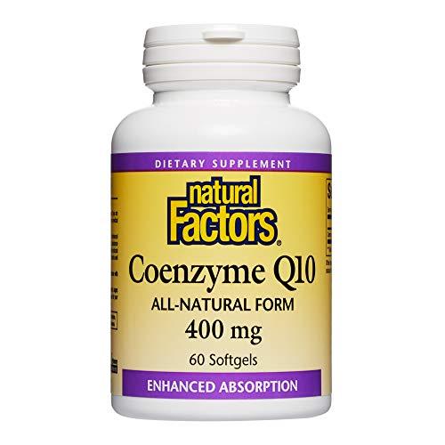 自然因素,辅酶Q10 400mg,CoQ10能量,心脏和抗氧化剂的补充,60粒软胶囊(60份)