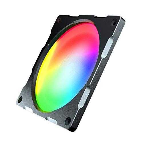 TISHITA Ventilador de refrigeración para ordenador (LED RGB, muy silencioso, alta velocidad, alto brillo, 12 cm)
