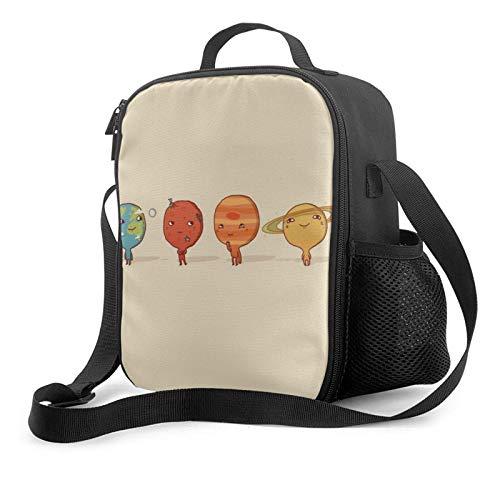 IUBBKII Bolsa de almuerzo con aislamiento Janeither Portable Lunch Bag, Large Capacity Storage Container, Women Men Kids Girls Insulated Tote Bag, Reusable School Outdoor Picnic Handbag With Cute Plan