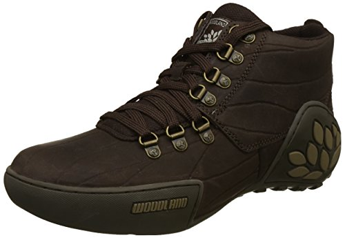 Woodland Men's Brown Leather Sneakers-6 UK/India (40 EU) (GC 1869115)