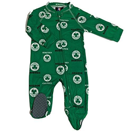 Outerstuff Boston Celtics Infant Raglan Zip-Up Coverall (3-6 Months)
