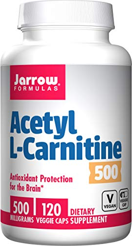 Jarrow Formulas Acetyl L-Carnitine 500 mg, Supports Antioxidant Protection for The Brain, 120 Caps