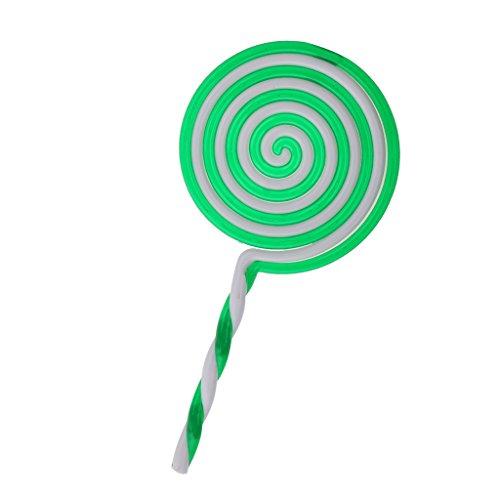Lollipop Doux Sucette Plastique Accessoire Fantaisie pour Baby Shower - Vert, Taille unique
