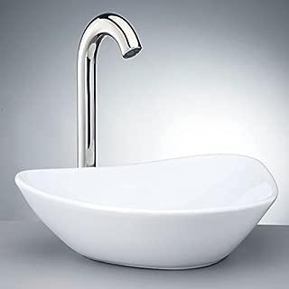 Krone KVS-140 White Porcelain Vessel Sink