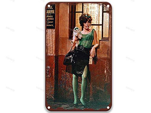 sfasf Irma la Douce (1963), signos de lata de metal con películas vintage, único para decoración de café y bar, decoración del hogar al aire libre, inodoro decorativo 20 x 30 cm