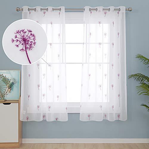cortinas cortas fucsia