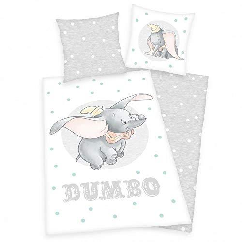 Dumbo Ropa de cama lisa elefante Holt Max Colette Milly 135 x 200 cm regalo nuevo – todo en uno Outlet-24