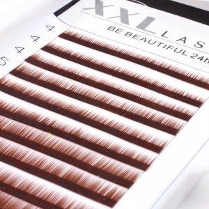 Cils droits sans courbe pour sourcils, reconstruction et extensions pour sourcils, 1 boîte de 12 rangées de longueurs différentes pour épaissir et allonger les sourcils, faux sourcils, Color marron