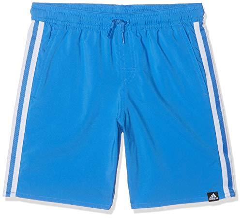 adidas YB 3S Sh Cl, Costume da Nuoto Bambino, True Blue, 15/16