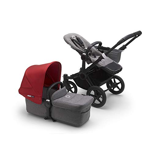Bugaboo Donkey 3 Mono Single Stroller Converts to Side-by-Side Double Stroller,...