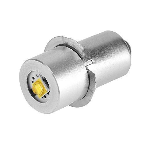 Focket Bombilla LED, P13.5S 3W Alto Brillo LED Luz de Emergencia Lámpara de Trabajo Linterna Linterna de reemplazo Bombillas Antorchas(Blanco 4~12V)