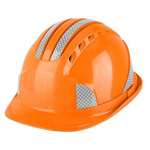 Casco de seguridad Trabajador Emplazamiento de la obra Tapa protectora Ventilar Casco ABS(naranja) 🔥