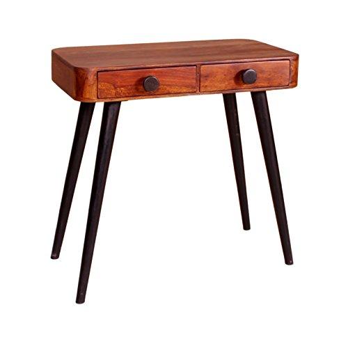 SIT-Möbel Knob 8384-01 Telefontisch mit 2 Schubladen, Sheshame-Holz, skandinavisch, braun, 80 x 40 x 76 cm