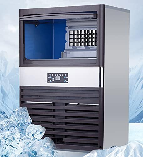 Industrial Máquina para Hacer Hielo, 80kg / 24h, 300 W Autolimpieza Máquina de Hielo Comercial, 55...