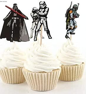 24x Cupcake Topper Picks - STAR WARS themed Cupcake Topper Picks