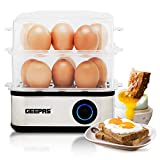 Geepas 2 in 1 Egg Boiler and Poacher – Capacity for 16 Eggs