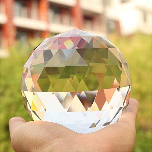 Toltec Lighting Schneiden Sie Kristallprismen Klarglas Prismen Kugel für Heimfotografie Dekoration Glas Lichtquelle Lichtkugel Anhänger,25mm