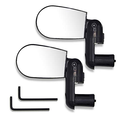 Labewin Fahrrad Spiegel-1 Paar verstellbare Fahrrad Lenker rotierende Flexible Rückspiegel (2 Stück)