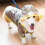 MYYXGS Chubasquero para Perros Welsh Corgi Ropa Impermeable para Mascotas Chubasquero Impermeable para Mascotas